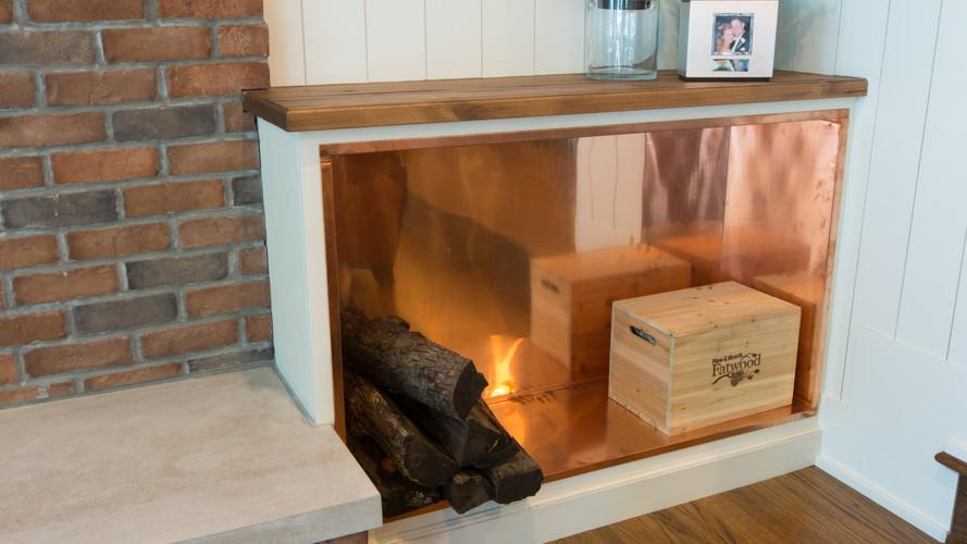 Lake Minnetonka, Excelsior, Copper Firewood Box