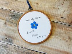 Forget Me Not Memorial Handwriting - Nan