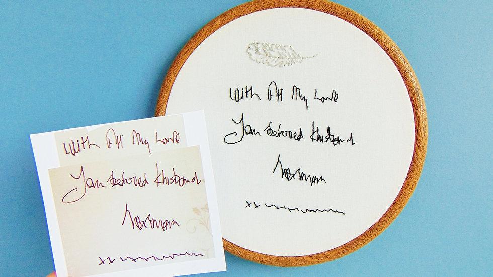 Memorial Handwriting