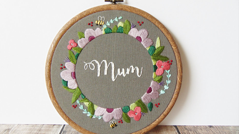 Grey Floral Mum