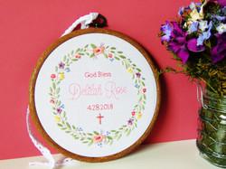 God Bless Baptism Hoop - Delilah Rose 9