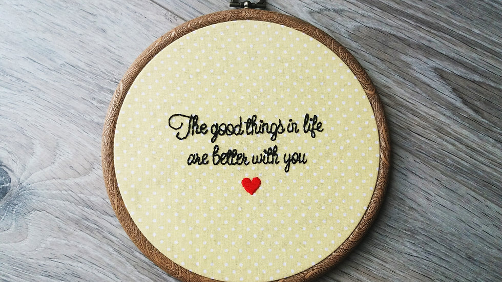 The Good Things In Life...