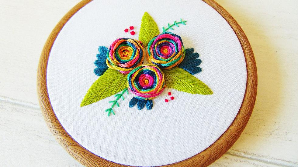 Rainbow Flower Whirls