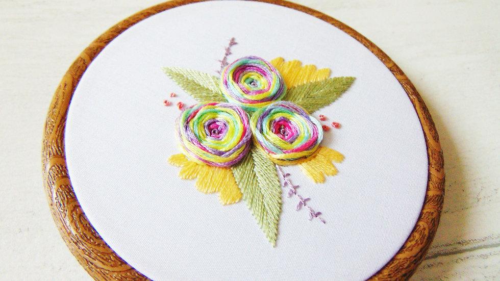 Pastel Flower Whirls
