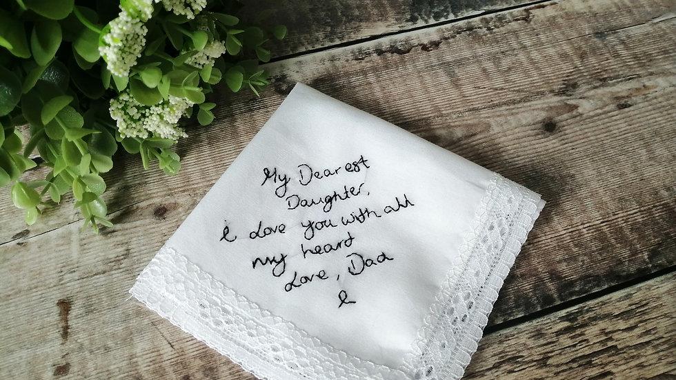 Handwriting Handkerchiefs