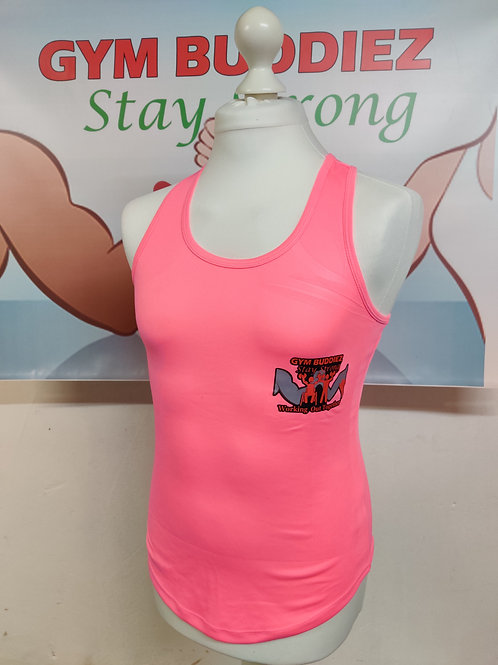 The Gym Buddiez Light Pink Vest M