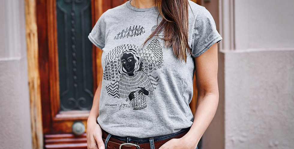 MY KNITTED WORLD Gray T-Shirt