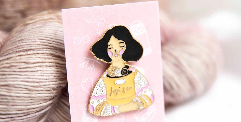 Knitting Dreams enamel pin