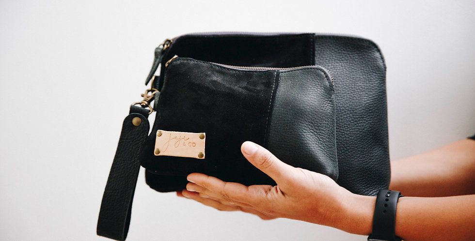 SANTI Bag + Pouch Combo - All Black