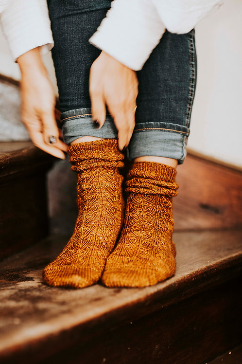 Caramel Sauce Socks