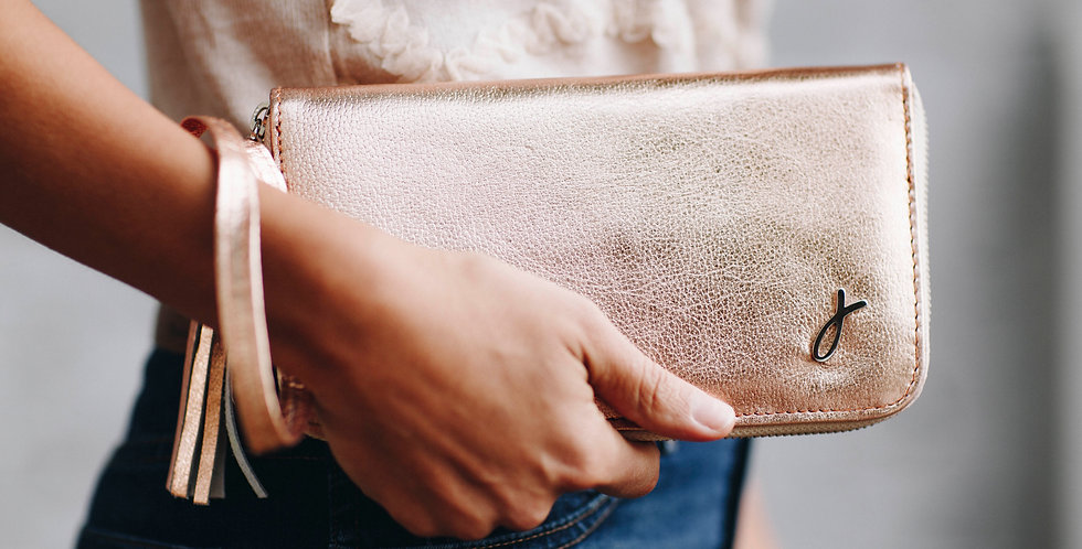 The ROMI Clutch/Wallet - Rose Gold