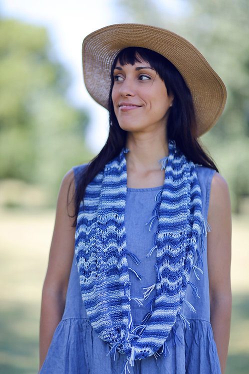 Fringed Denim Cowl