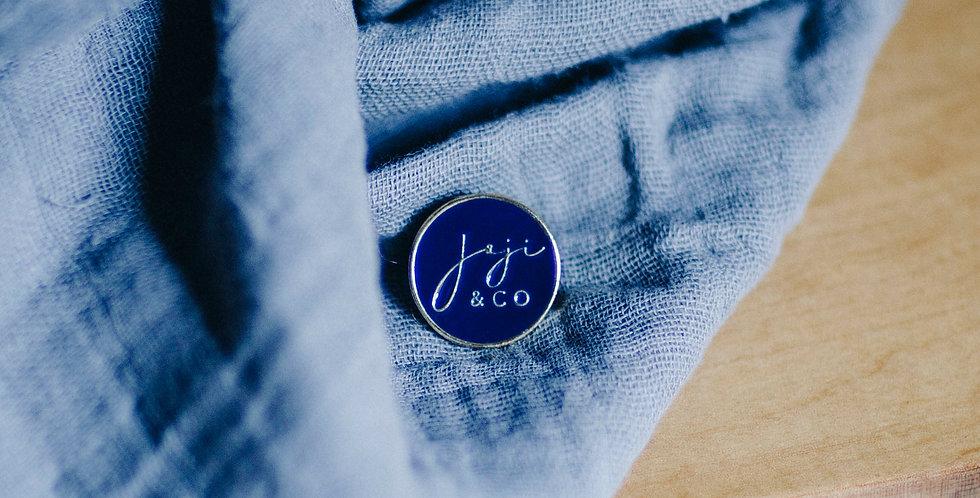 Joji & Co blue enamel pin