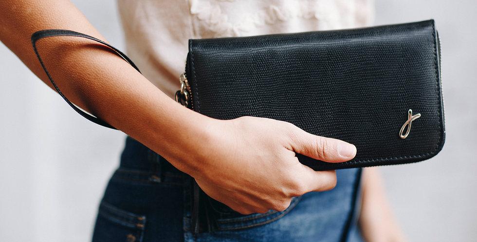 The ROMI Clutch/Wallet - Black