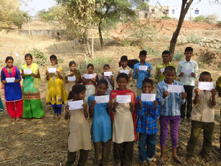 Children in India, education assistance