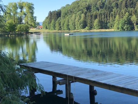 Ein Fischersteg am Türlersee - unser Ort zum meditieren!