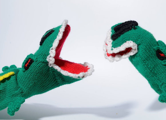 Krokodiler handdockor