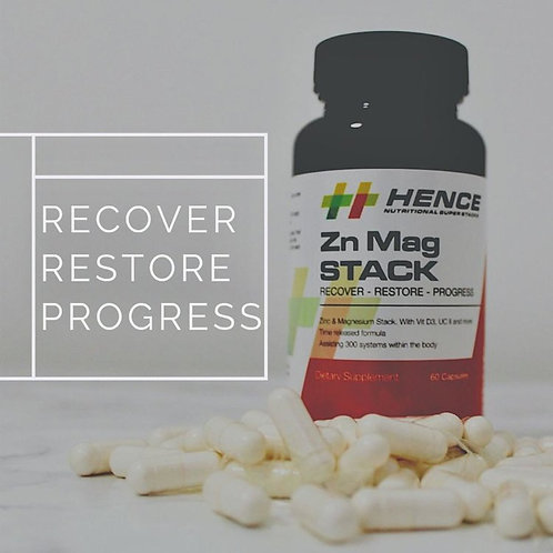Hence Zn Mag Stack - Post Workout  Post Training Stacked recovery sup