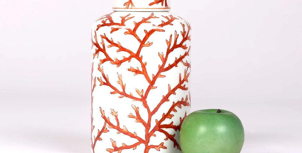Coral Porcelain Jar