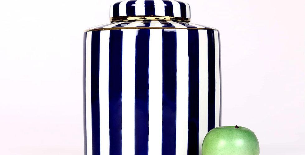Striped Porcelain Pot