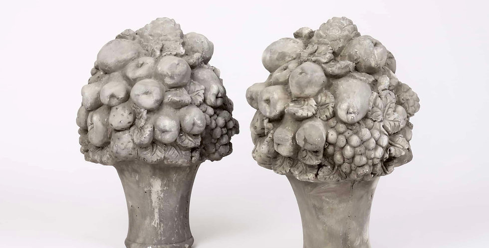 Pair of  Decorative Concrete Fruits