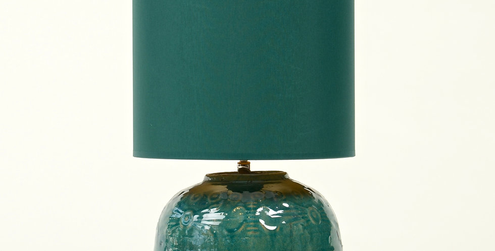 Ceramic Ginger Jar Lamp and Shade