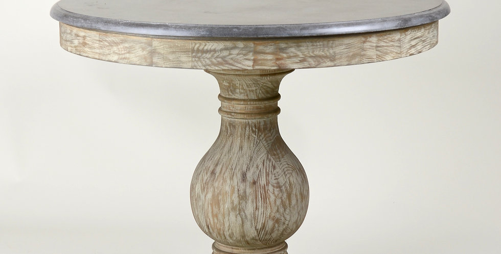 Burnt Oak Marble Topped Table