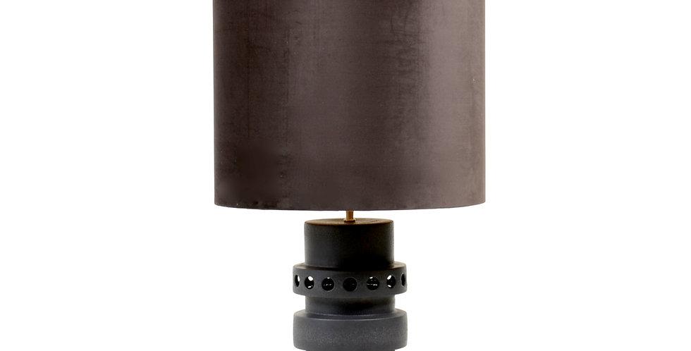 Oversized Black Metal Lamp & Shade