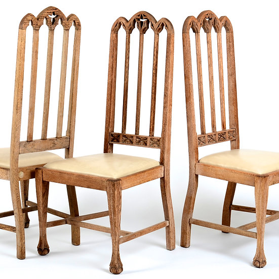 Oak Gothic Dining Chairs