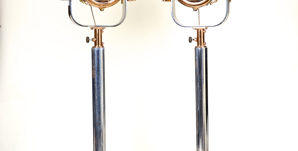Pair of World War II Signal Lamps