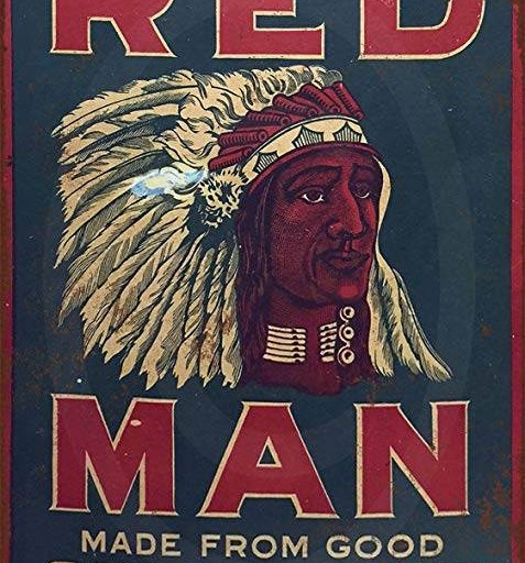 Cigar Label with Indian Head