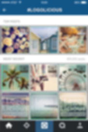 Logolicious instagram feed, looking professional and consistent