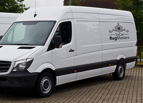kourosh socal rugmasters pickup and delivery van