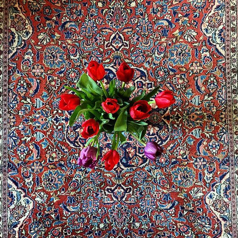 Gorgeous Persian rug cleaned