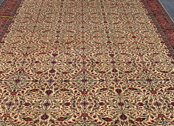 Turkish Kayseri Wool on Cotton Rug