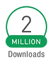 Over 2 million downloads for add your logo app badge