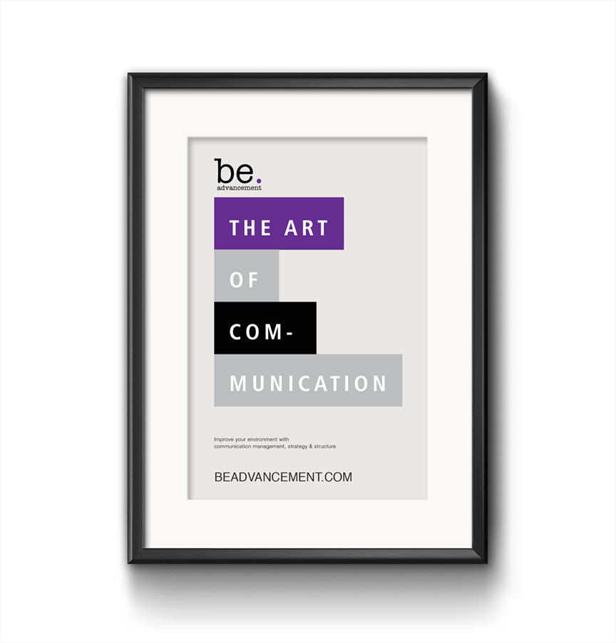 communication is art, © Be.Advancement