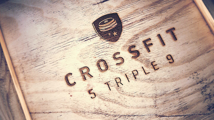 logo Crossfit 5999 on material