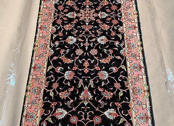 Persian Tabriz, Silk and Wool on Cotton Runner