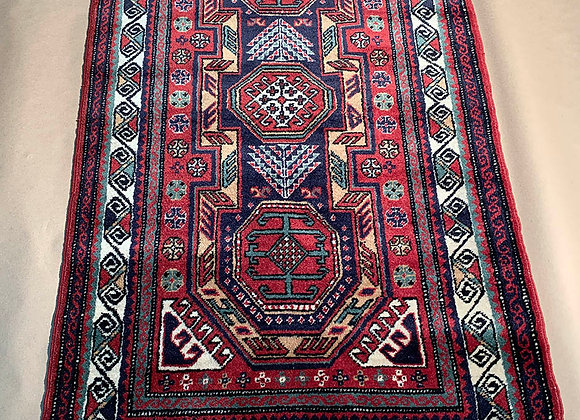 Turkish Handmade Rug Wool on Cotton