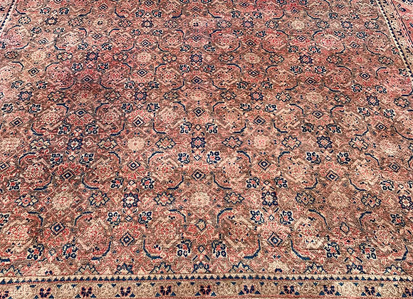 Persian Antique Tabriz Wool on Cotton