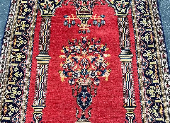 Antique Kashan Prayer Rug