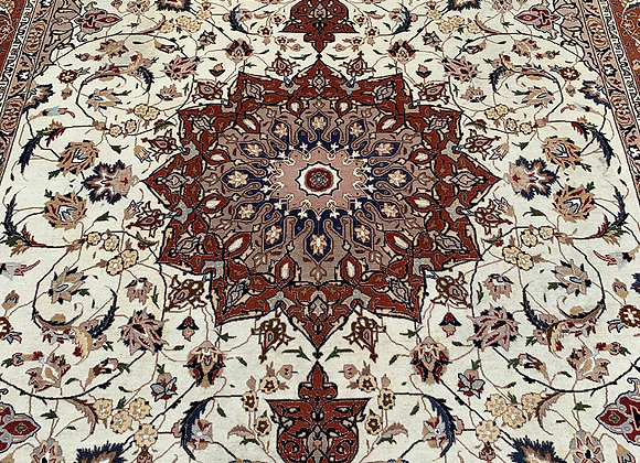 Persian Tabriz Wool & Silk on Cotton