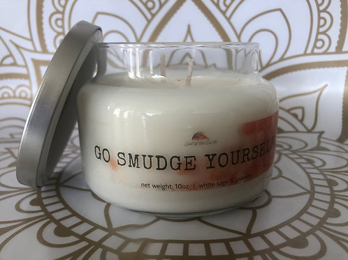 "10oz Apothecary Candle ""Go Smudge Yourself"""