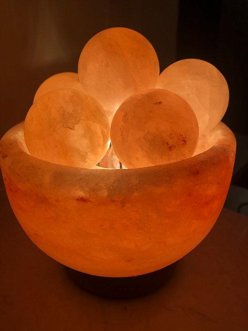 Himalayan Salt Warmer - Abundance Bowl w/ 6 Salt Balls