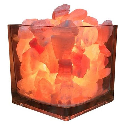 Himalayan Salt Warmer - Small Glass Square
