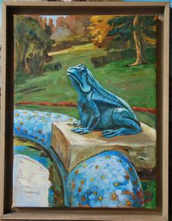 Vilennes, grenouille de bronze