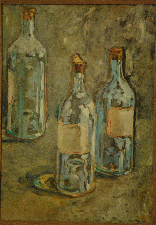 Trois bouteilles, Yquem 1921 - 65x50