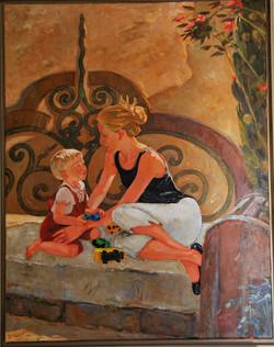 Laure et Adrien, banc de Chevillon