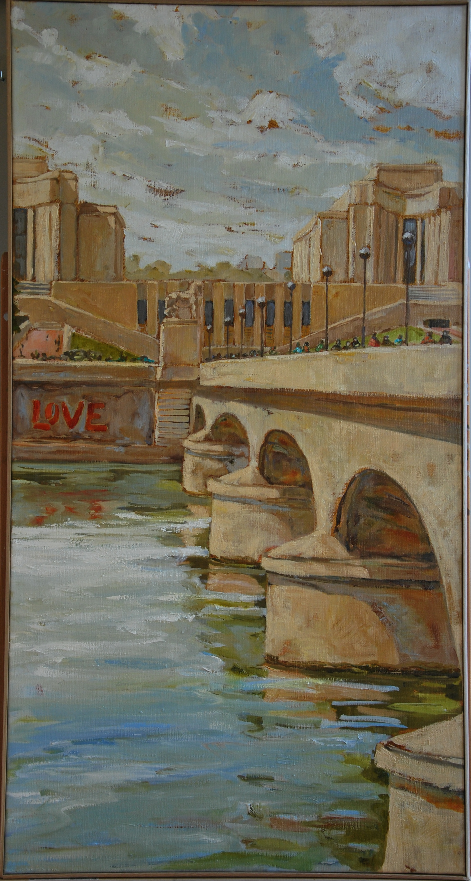 Paris, quai Love - 60x114